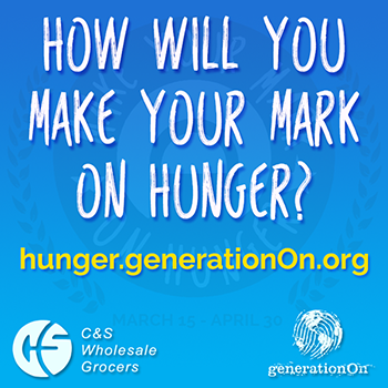 Sign up to fight hunger through youth service with the Make Your Mark on Hunger campaign.