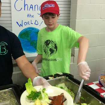 At age 7, Will Lourcey founded FROGs, a youth-led service organization focused on fighting hunger.