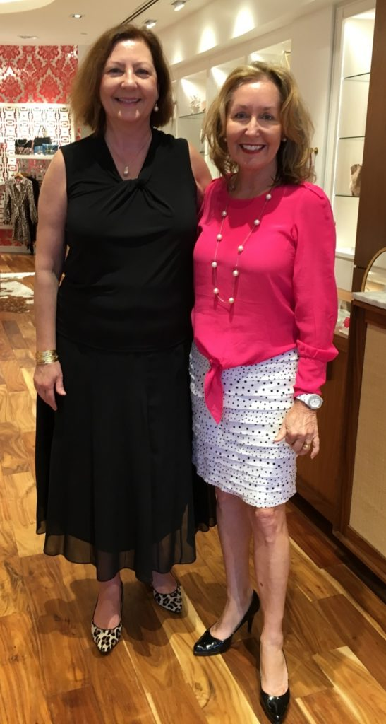 Theresa Mallett (left) with June Christensen, President of the Society for the Performing Arts.