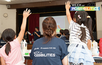 AbbVie volunteers in Tokyo administered the SEEK Program (Science Engineering Exploration Knowledge) to children in group homes. The goal of the SEEK program is to expose underserved children to STEM topics and increase awareness and excitement.