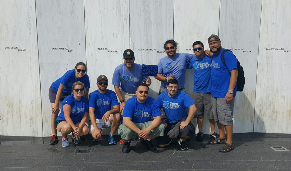 Jose Martinez volunteers at a service project for the United 93 Memorial through The Mission Continues.