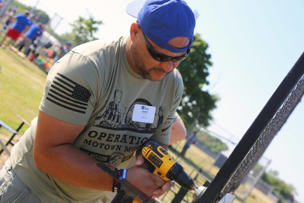 Jose Martinez, an Army veteran, works on various projects with The Mission Continues to help other veterans