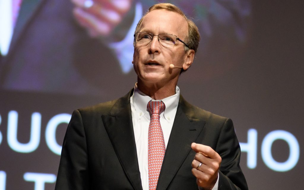 During the Service Unites Summit, Neil Bush, chair of the board of directors for Points of Light, encouraged attendees to support National Service and sign up for the ongoing Thunderclap campaign created by Points of Light and Voices for National Service.