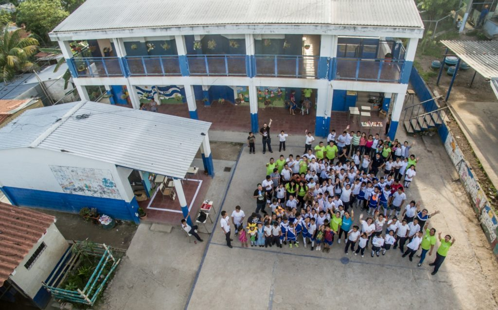 Students at Montelimar Community School in Olocuilta, La Paz, El Salvador.