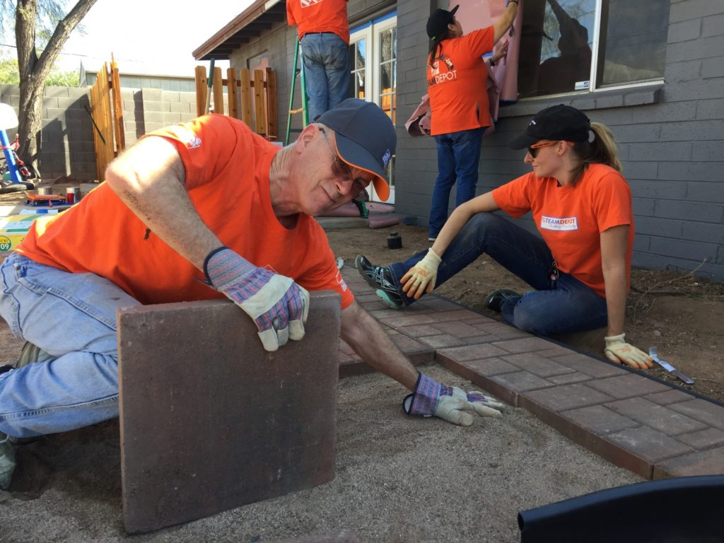 Veterans Home Improvement Program projects cover a range of activities, such as exterior painting, installing paver stones, building wheelchair ramps, tree removal and more.