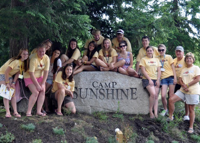 Carol Tonge (far right) with Camp Sunshine volunteers./Courtesy Carol Tonge
