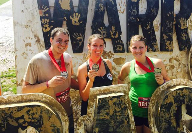 In 2015, Niki (center) participated in the Warrior Dash in Copper, Colo., along with Cody Ferrell and Stephany Lipscomb.