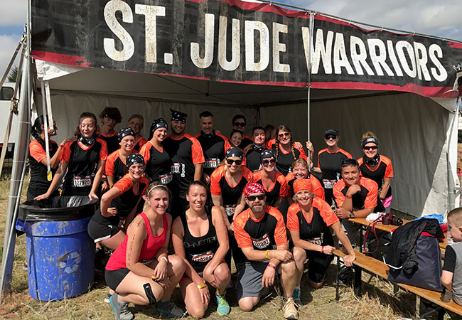 In 2017, Niki and teammate Stephany were joined by another team of St. Jude Warriors in the Larkspur, Colo. Warrior Dash.