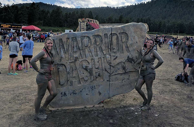 In her fourth year as a St. Jude Warrior, Niki Huntsman (right) and her teammate Stephany Lipscomb participated in the Warrior Dash in Larkspur, Colo., and raised a total of $1,625 to support St. Jude Children's Research Hospital.