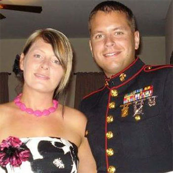 Lisa Colella and SSGT Rick Colella at the Wounded Warrior Battalion Event in 2012.