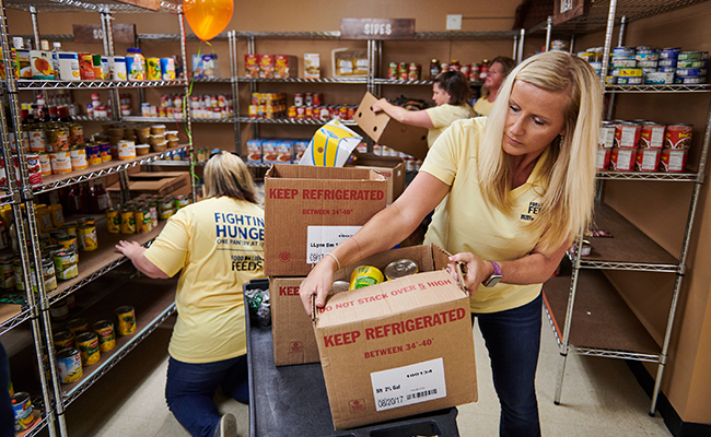 Food Lion Associates rebuild and restock feeding agencies across their 10-state footprint.