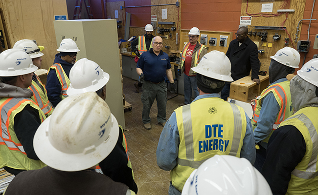 DTE volunteers contributed more than 1,800 hours to help renovate Randolph.