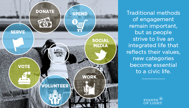 New categories of engagement are essential to civic life in the 21st century.