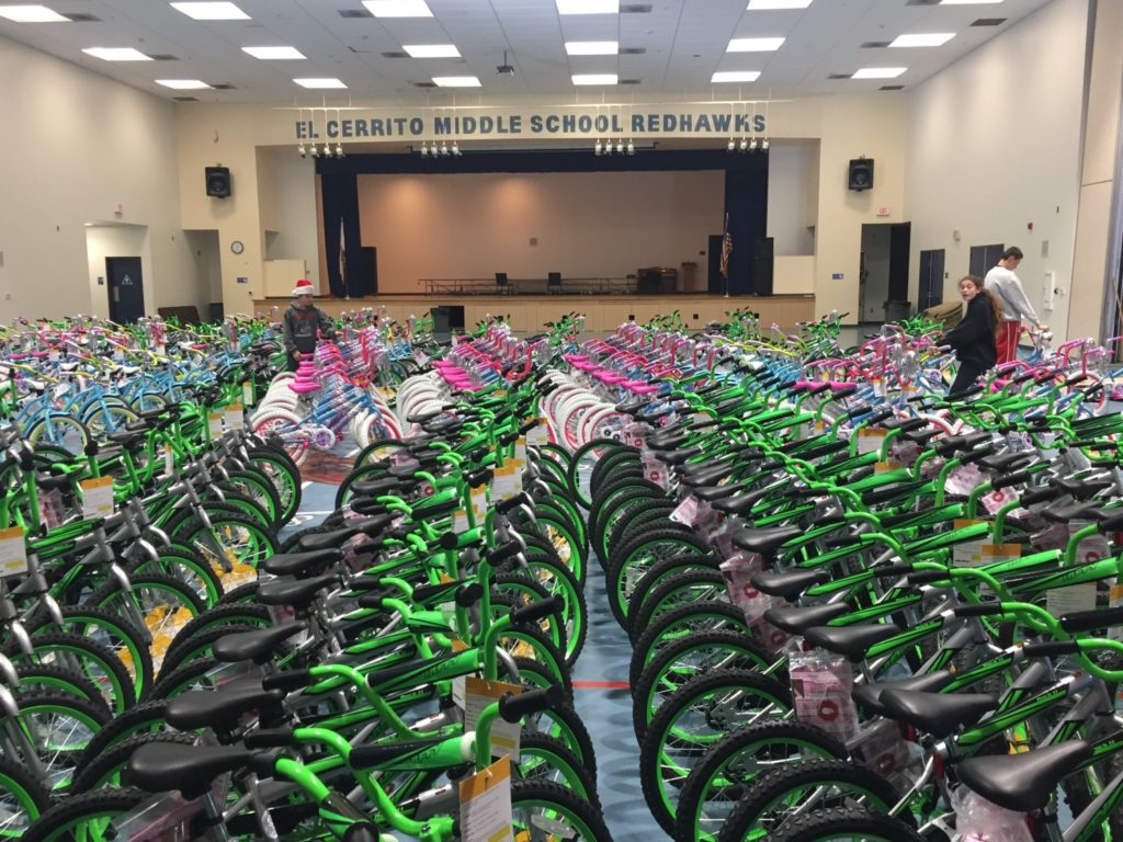 Over 4,700 bicycles and helmets have been donated to needy and deserving students since Bicycles for Children was launched./Courtesy John White