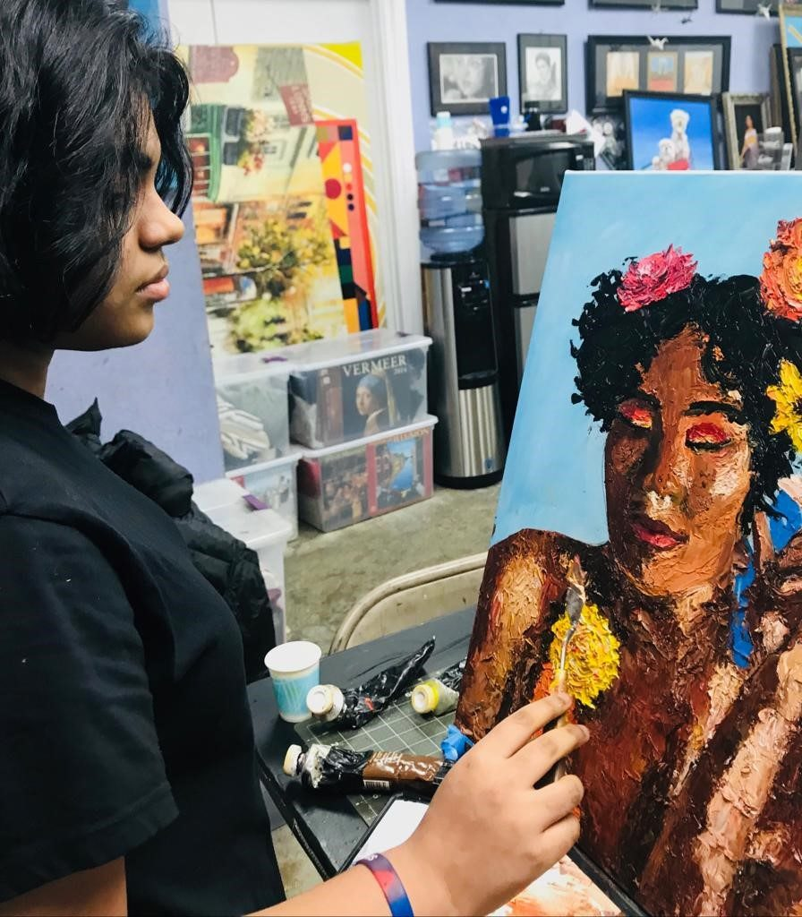 Apoorva Panidapu has raised more than $10,000 for her charity by selling her art working and tutoring younger students in math./Courtesy Apoorva Panidapu