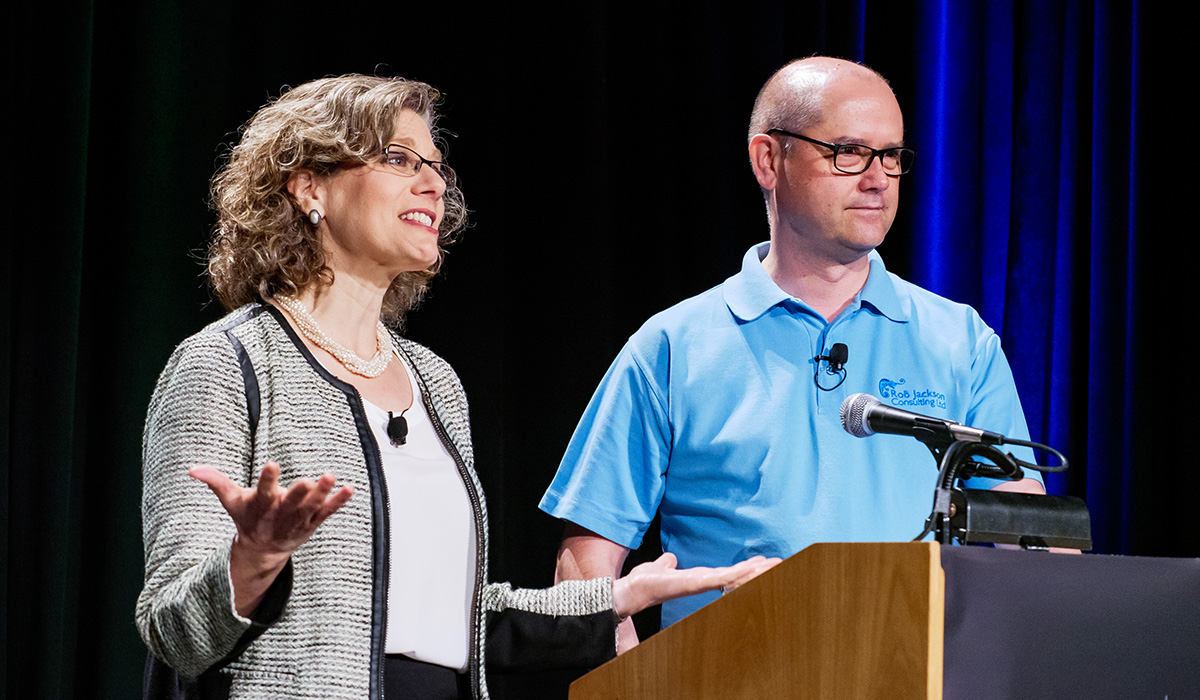 Beth Steinhorn and Rob Jackson lead an inspiring educational plenary at the Nonprofit Volunteer Engagement Opening Session.