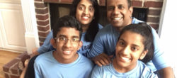Jeevanayagam Family, finalists for Disney and Points of Light Volunteer Family of the Year.
